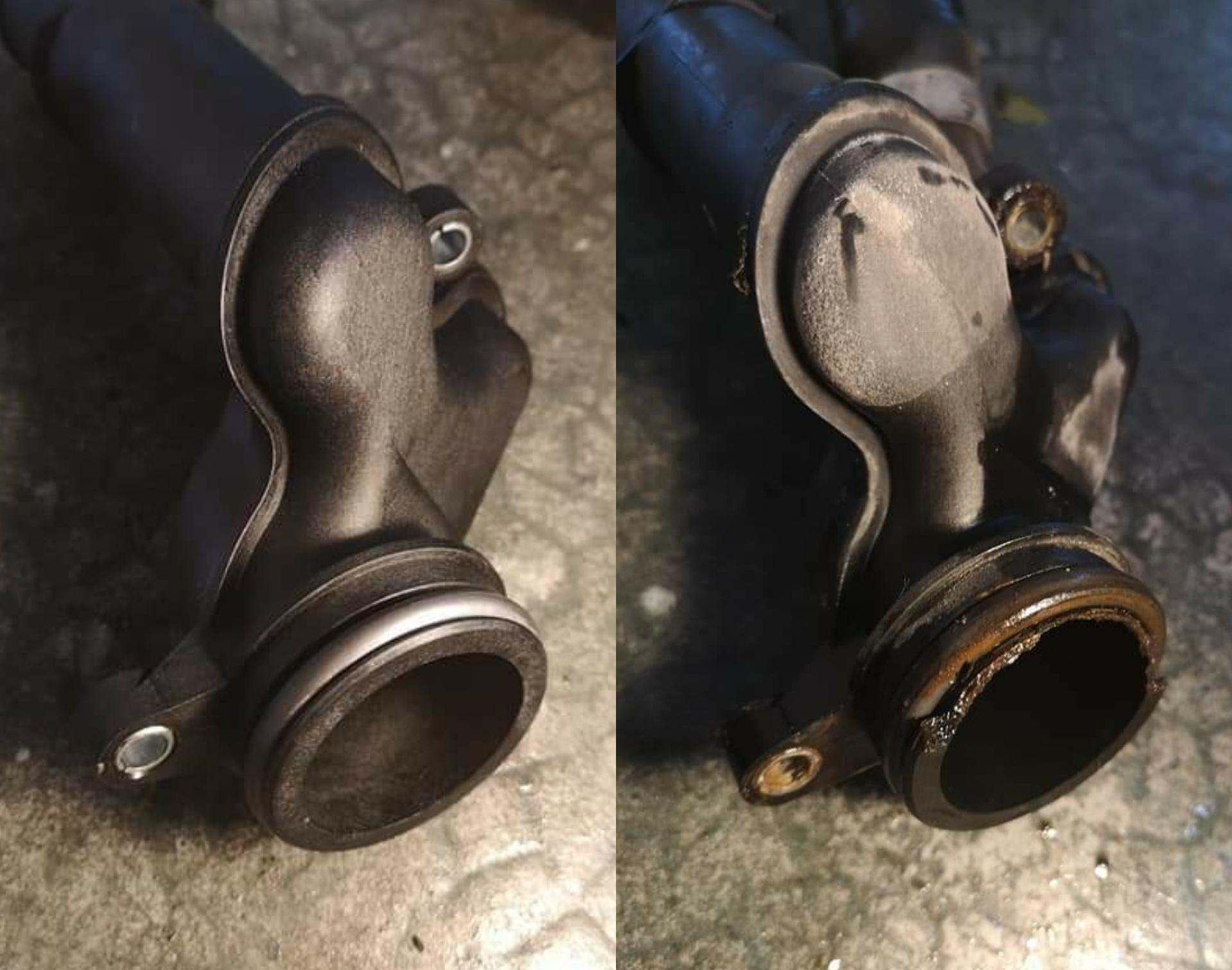 Boitier d'entrée d'eau moteur - Cassé