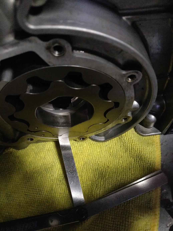 Jeu entre le rotor extérieur et le corps de la pompe
